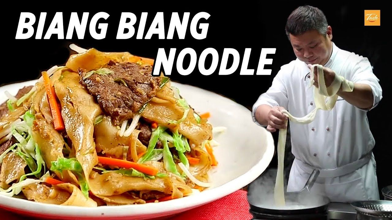 Best Chinese Hand Pulled Noodle Biang Biang Noodles L 扯麵 Youtube Chinese Cooking Best Chinese Food Stuffed Peppers