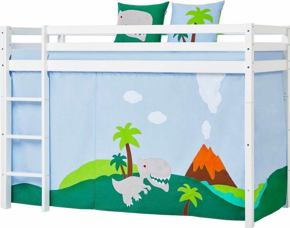 Hoppekids Hochbett Dinosaurier Bett Inkl Vorhang Set Matratze