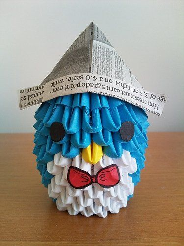 3d Origami Penguin Crafty Ideas Pinterest 3d Origami Origami