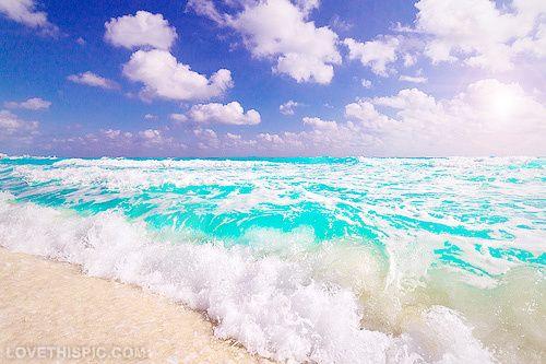 Waves On The Beach Photography Summer Sky Beach Ocean Water Waves Pretty  Sea Xxxxx├
