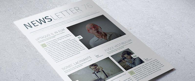 Modern Business Newsletter  Design    Indesign