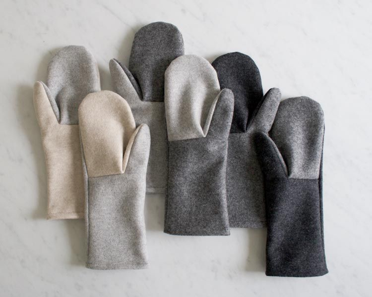 Simple Felted Wool Mittens in Lana Cotta Canberra   Purl Soho-Sewing ...