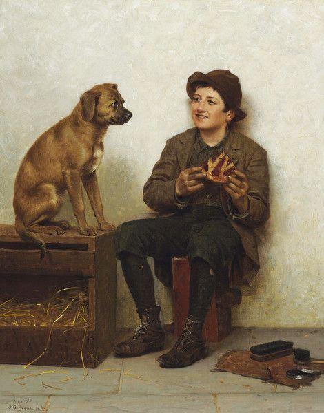 A Taste for Pie by John George Brown   Art Posters & Prints