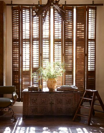 A texas home straight out of italy home windows - Shutters for decoration interior ...