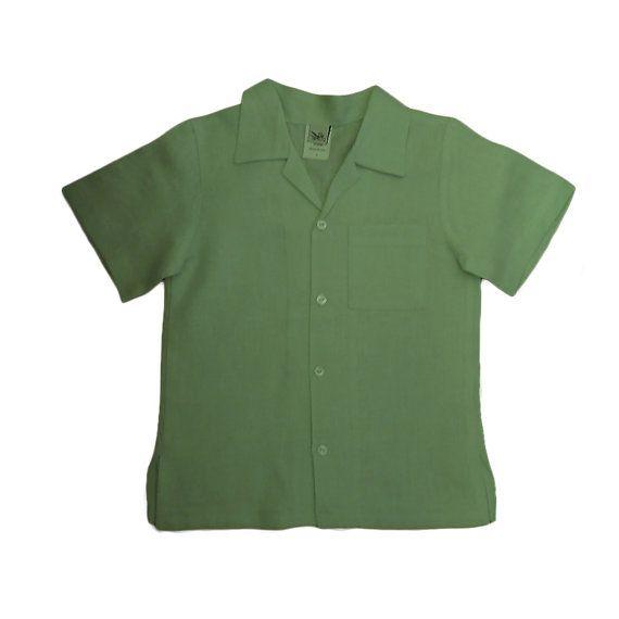 Boys Linen Shirts wedding linen shirts by AbysKidsLinen on Etsy