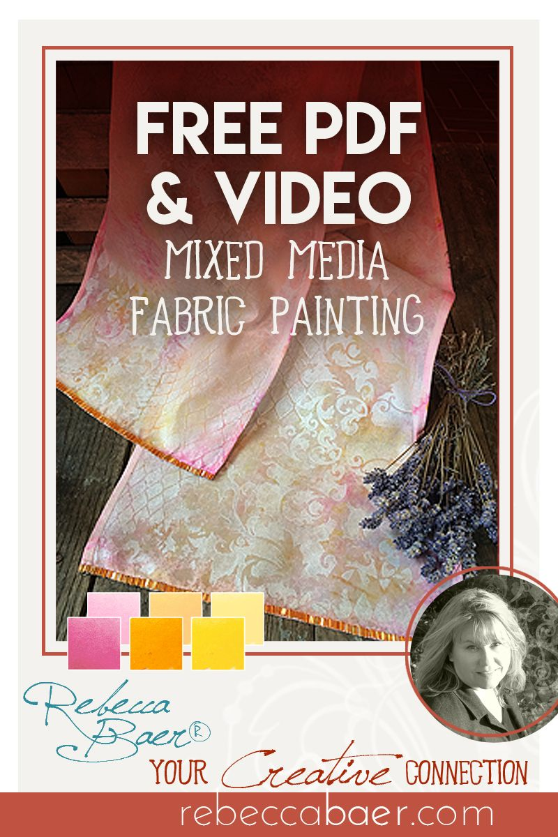 This scarf is a fun project that can can be completed in just a day! Upcycled, Mixed Media Scarf | One-day Project | RebeccaBaer.com