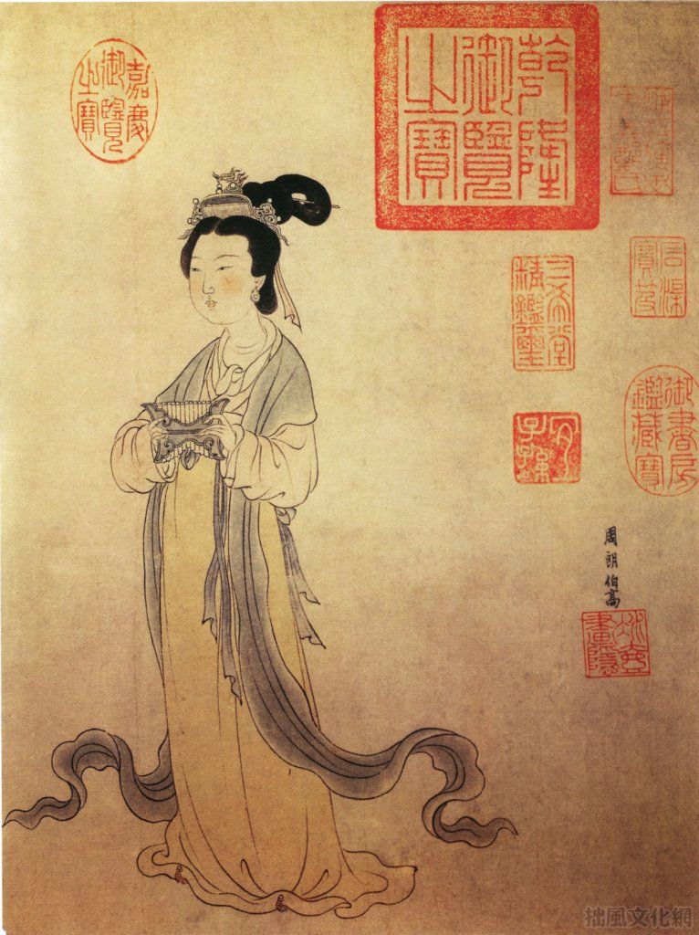 Image of women in ancient Chinese painting   Chinese painting, Ancient china,  Chinese art