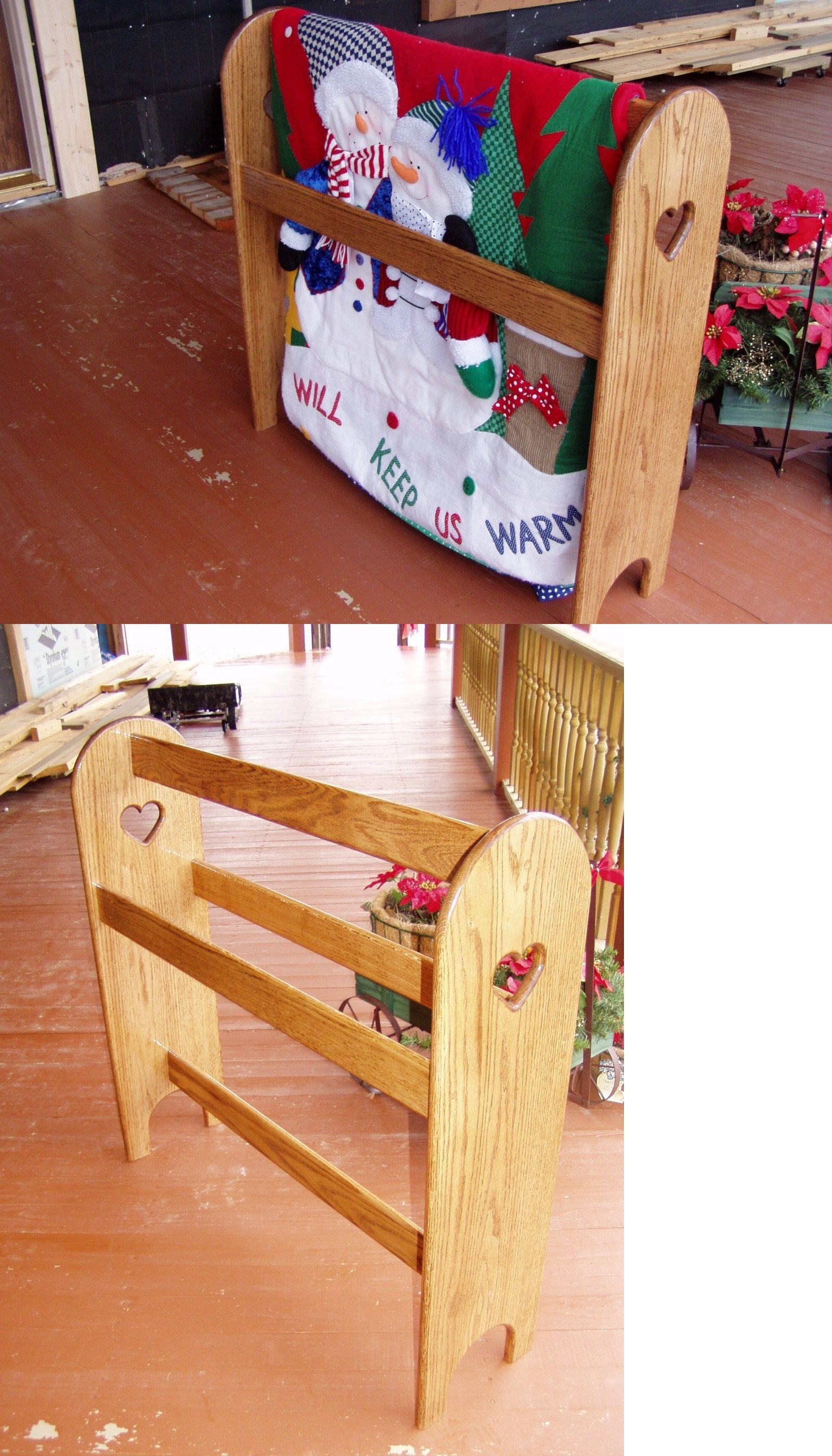 storage wooden piece display il blanket large perfect quilt rustic decorative rack or zoom listing librarians ladder fullxfull