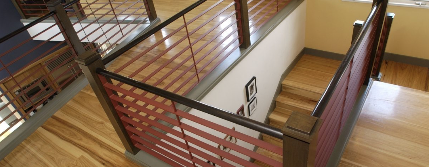 Best Hickory Hardwood Flooring In Stairwell With Images 400 x 300