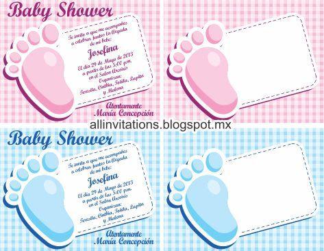 baby-shower-piecito-bebe.jpg | tareas | Pinterest | Invitaciones ...