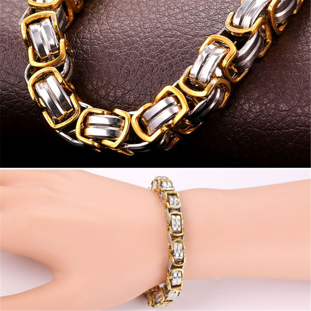 Thick chain bracelet men jewelry l stainless steel with ul
