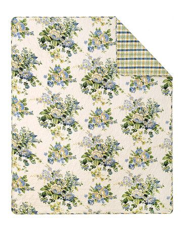 This Bouquet Reversible Throw Blanket is perfect! #zulilyfinds