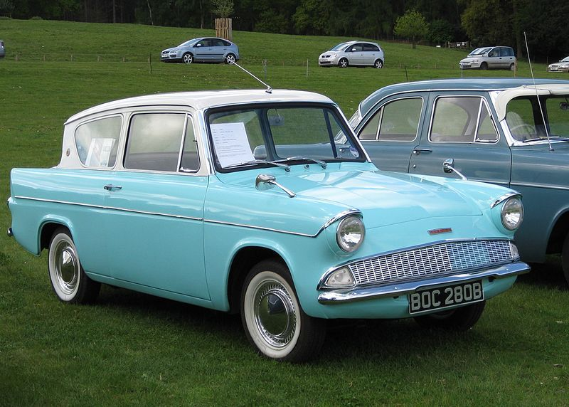 Ice Blue Ford Anglia Ford Anglia Ford Ford Van