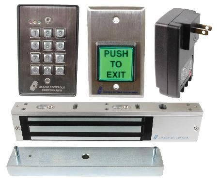 Alarm Controls Lock N A Box Magnetic Door Access Control System 1200lb Holding Capacity By Alarm Controls 389 99 E Z Mount System No Home Security Systems Access Control Security Camera System