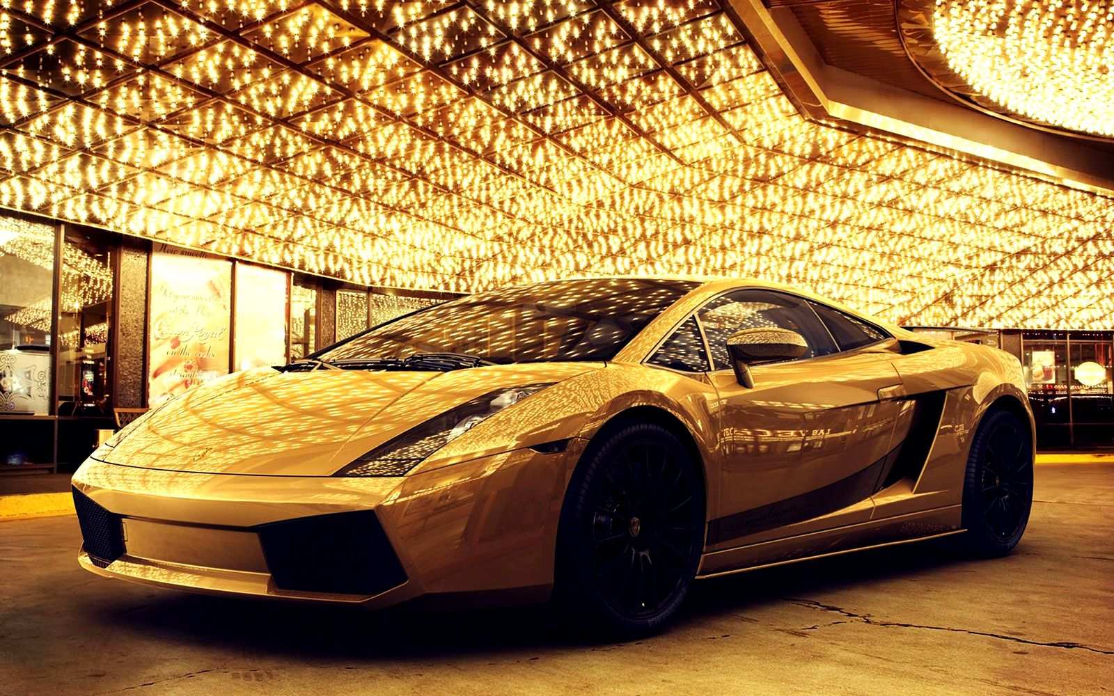 Gold Car Wallpapers: Golden Lamborghini Gallardo Luxery Car HD
