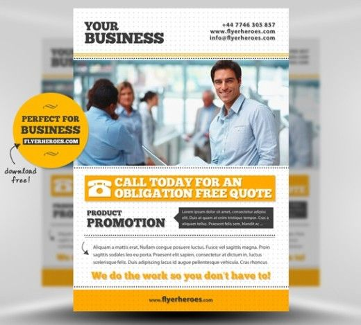Free business flyer template 30 stunning free flyer templates business flyerposter psd template this free business corporate flyer template is a simple typography based design very easy to customize and adapt to any friedricerecipe Images