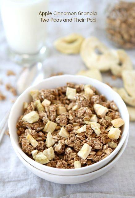 Apple Cinnamon Granola from www.twopeasandtheirpod.com #recipe