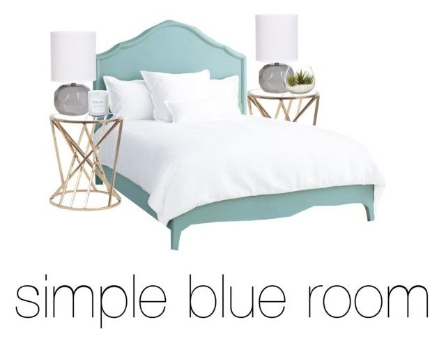 """simple blue room"" by fashionbymadi on Polyvore featuring Redford House"