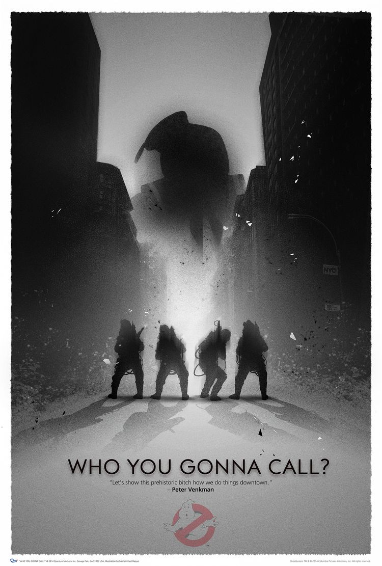 """18/"""" x 12/"""" new  Giclee Art Print Poster Ghostbusters Grey Movie"""