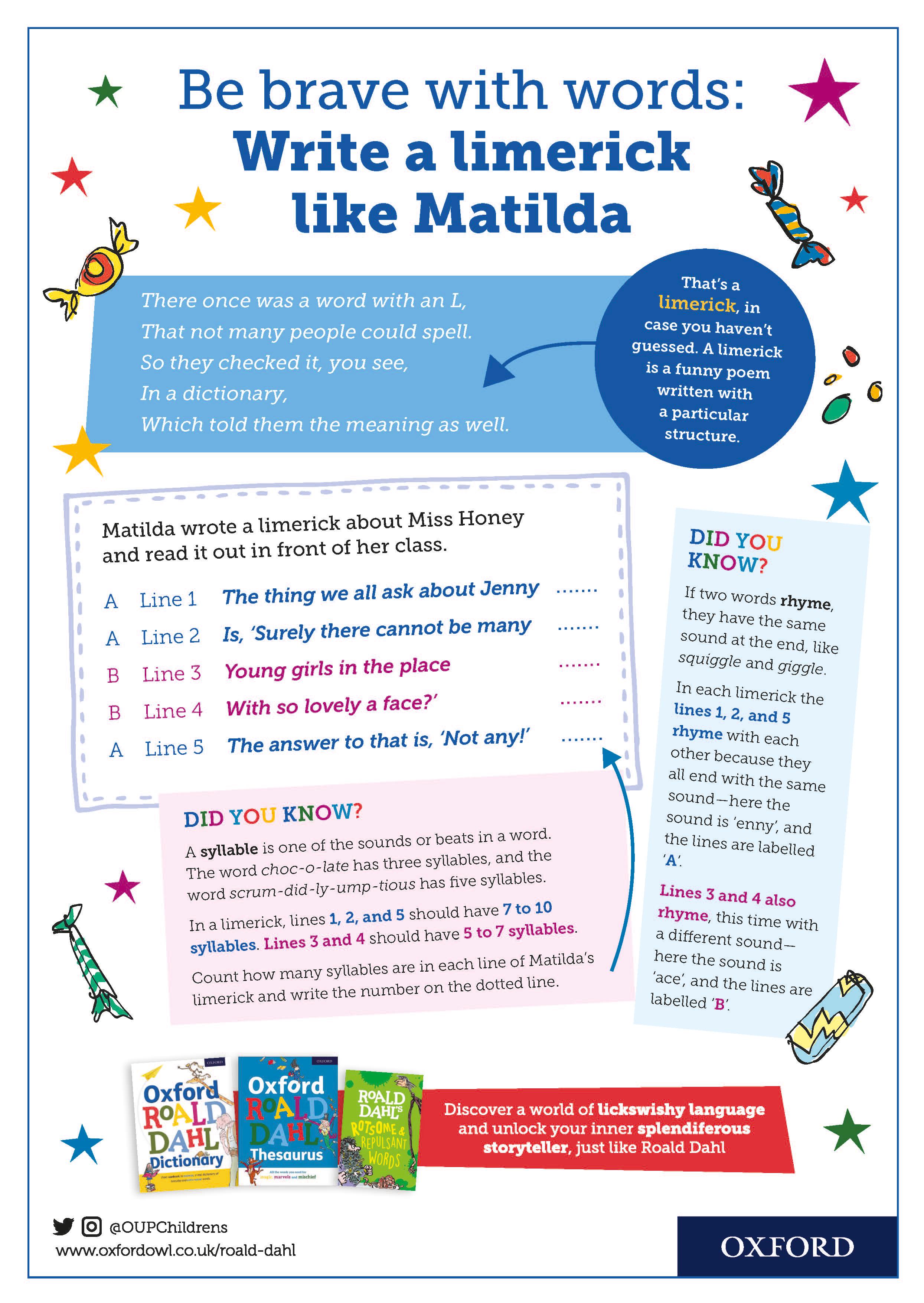 Master Limericks Like Matilda With This Fun And Helpful