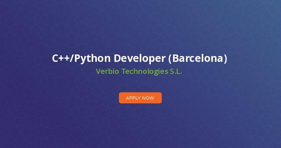 C Python Developer Barcelona Development Job Opportunities Job