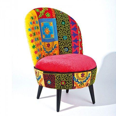 Fauteuil Rosalie Multicolore Fauteuils Fauteuil Design Et Intérieur - Fauteuil multicolore design