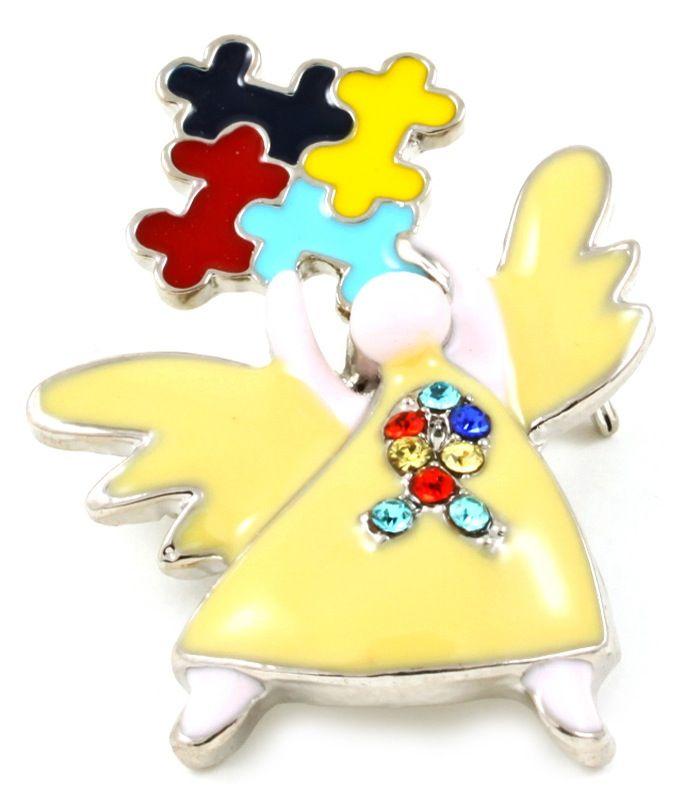 Autism Awareness Angel Brooch & Pin | iKandy | Autism ...