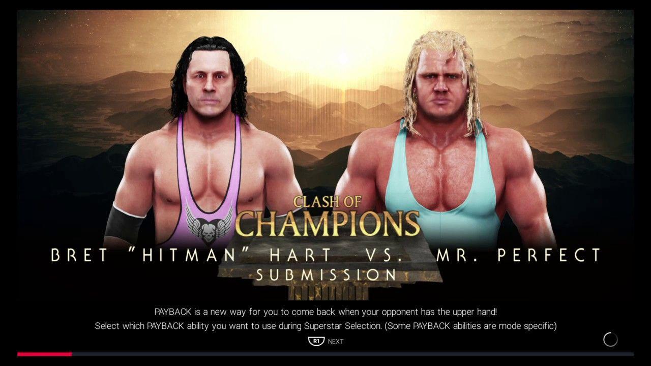 Wwe 2k19 Legends King Of The Ring Bret Hart Vs Mr Perfect Round 1 Hitman Hart Wwe Clash Of Champions [ 720 x 1280 Pixel ]