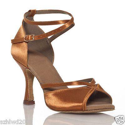 ce80489e2a5 Ladies-Ballroom-Rumba-Samba-Latin-Tango-Dance-Salsa-Shoes-Heels-Sandals -US-5-9