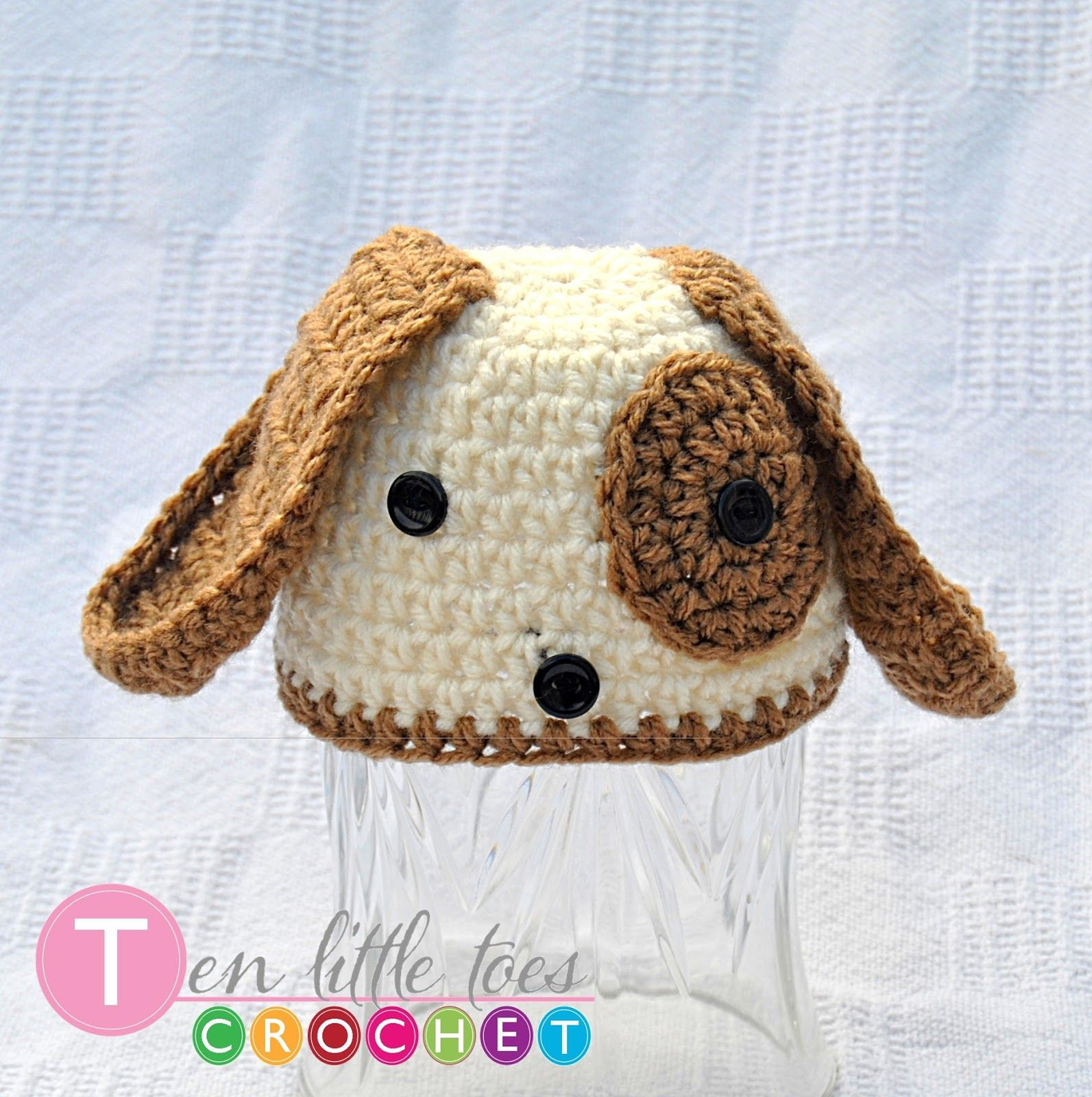 Love in Crochet   FREE  Newborn Little Puppy Hat Crochet Pattern ... 658c61344e9
