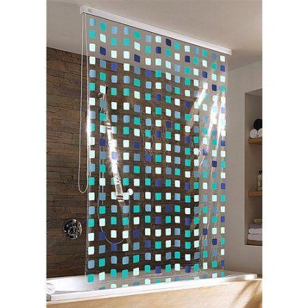 Duschrollo Mosaik Blue Amazon De Kuche Haushalt Disenos De