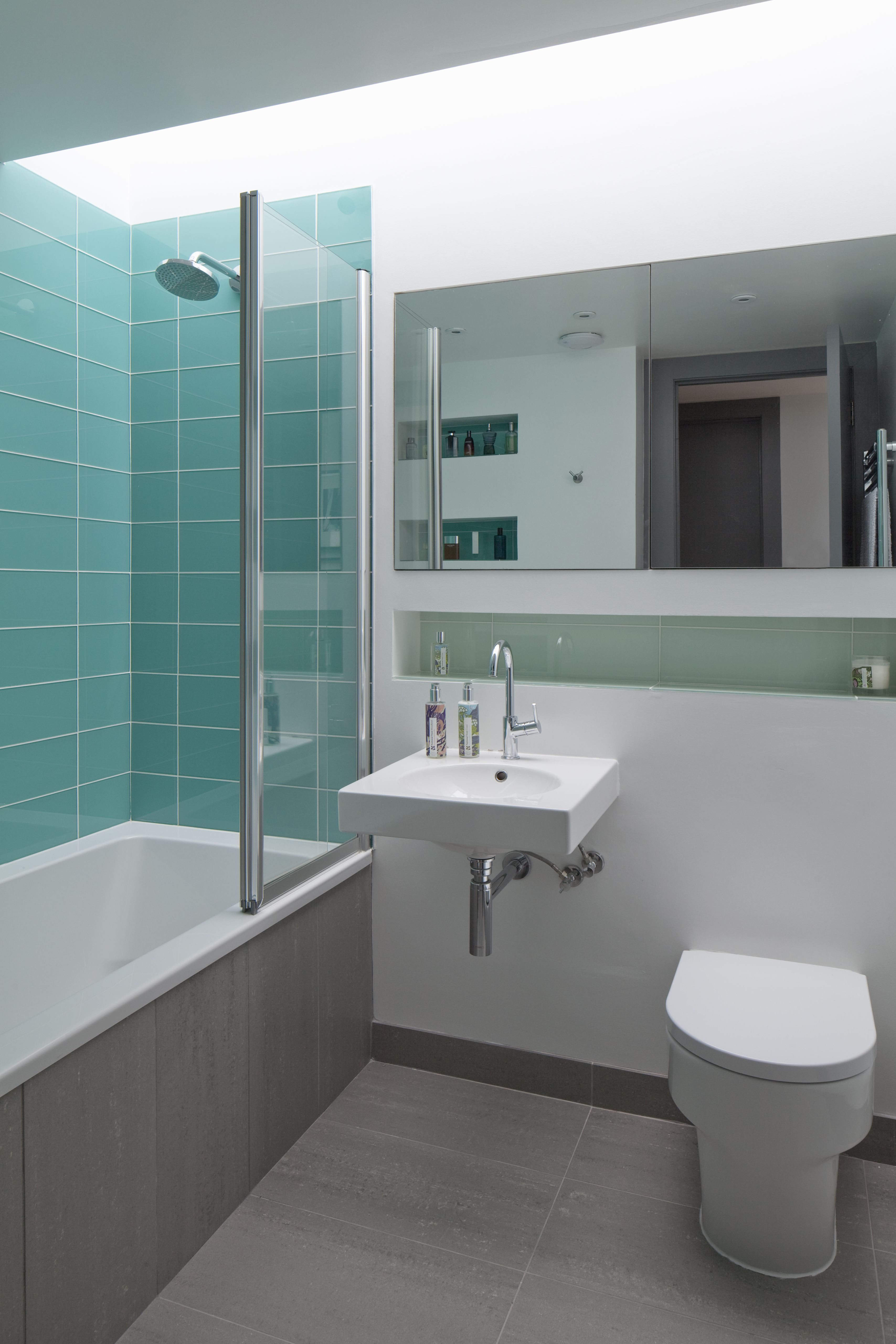 Bathroom colour and a large flat rooflight to provide plenty of ...