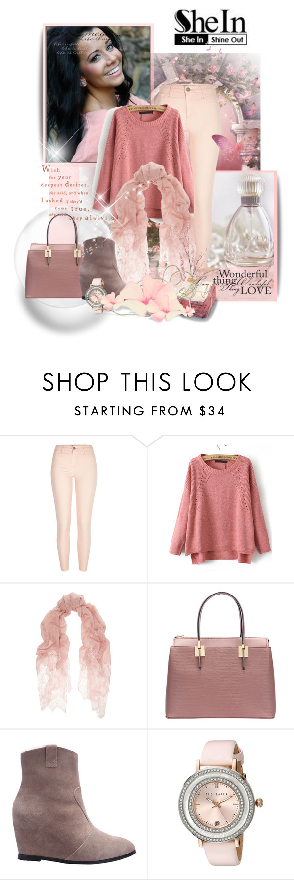 """Sheinside"" by marinadusanic ❤ liked on Polyvore featuring мода, Valentino, Ted Baker, Pier 1 Imports и vintage"