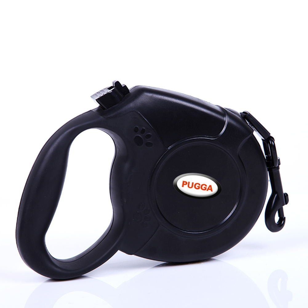 Jinggle dog Retractable leash 26 Ft With Sturdy Nylon Rope, Comfortable Hand Grip, One Button Brake and Lock for Small Medium Large Dogs,Perfect for Training Backyard Use and Walking (black) ** Review more details here : Leashes for dogs