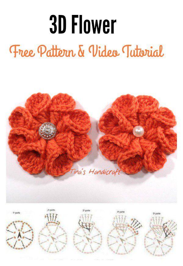 How To Crochet 3d Flower Granny Square Baby Blanket Pinterest