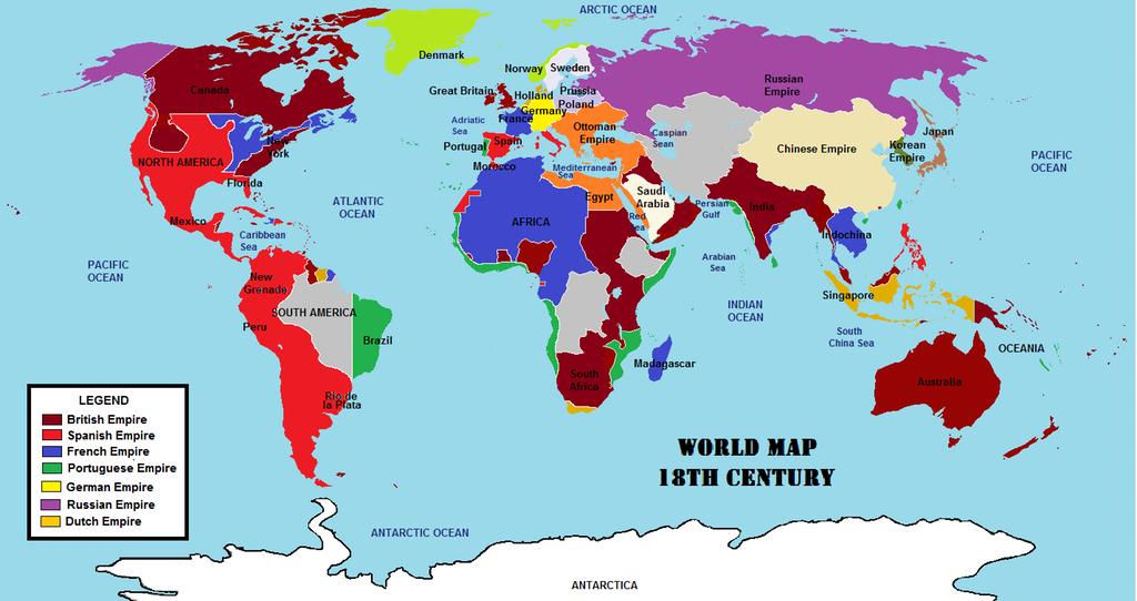 World Map 18th Century