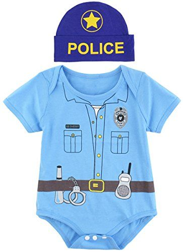 Halloween Costumes Ideas Mombebe Baby Boys\u0027 Police Costume Bodysuit - halloween ideas for 3
