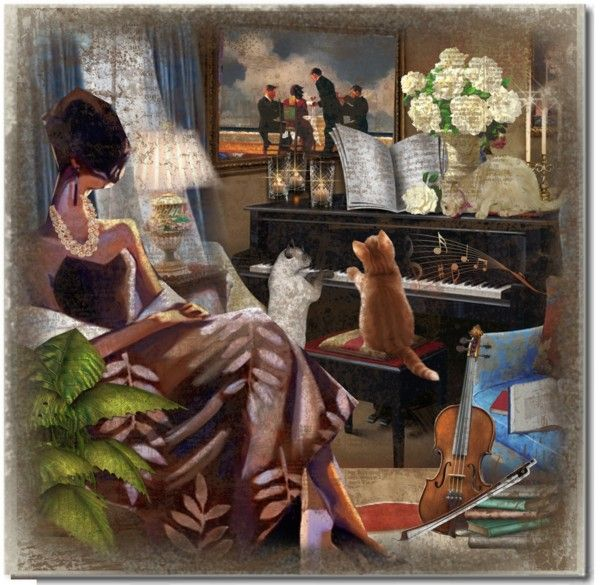 """Moonlight Sonata. Piano Sonata No. 14 in C-Sharp Minor ""Almost a Fantasy."" by qiou on Polyvore"