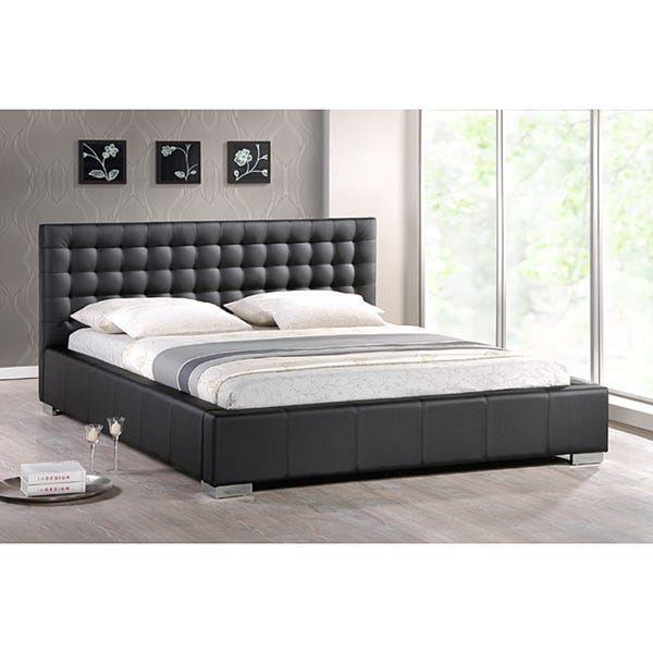 Modern Platform Bed, Black Upholstered Platform Bed Queen