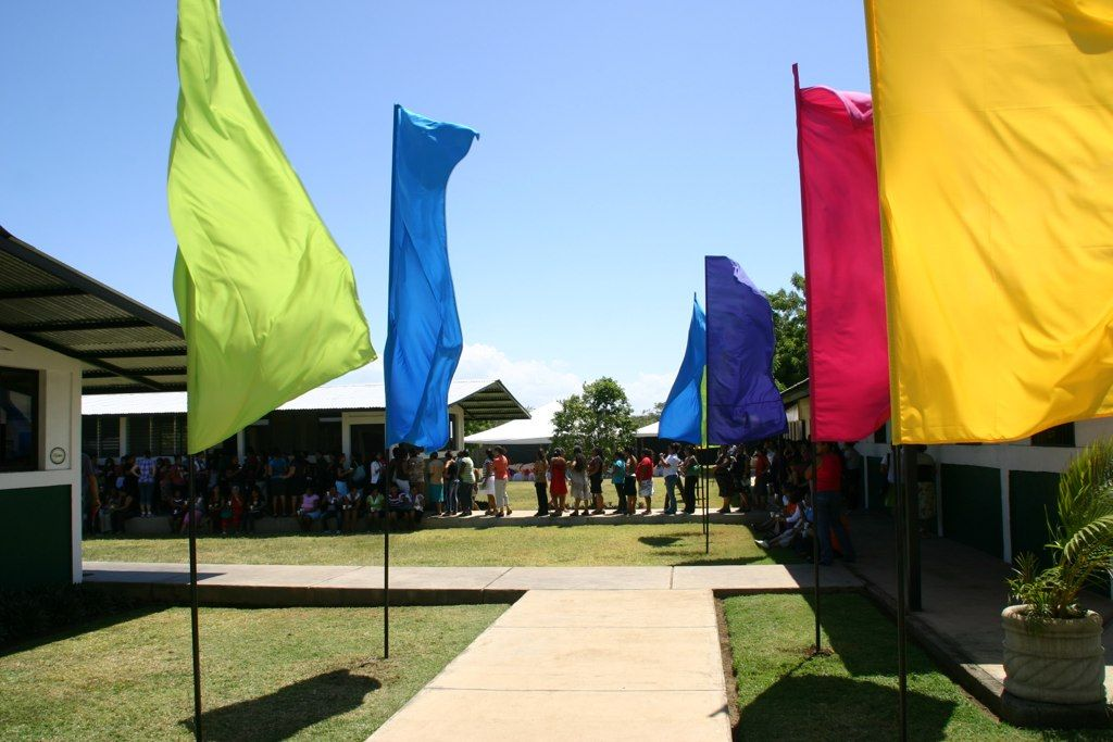 Flags at the LifeLink Ministry Base