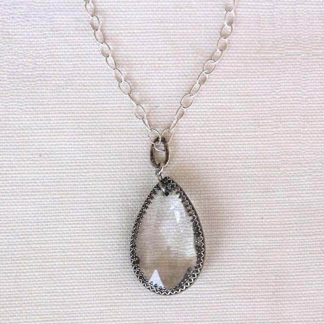 Crystal Teardrop Necklace by Ladysmith