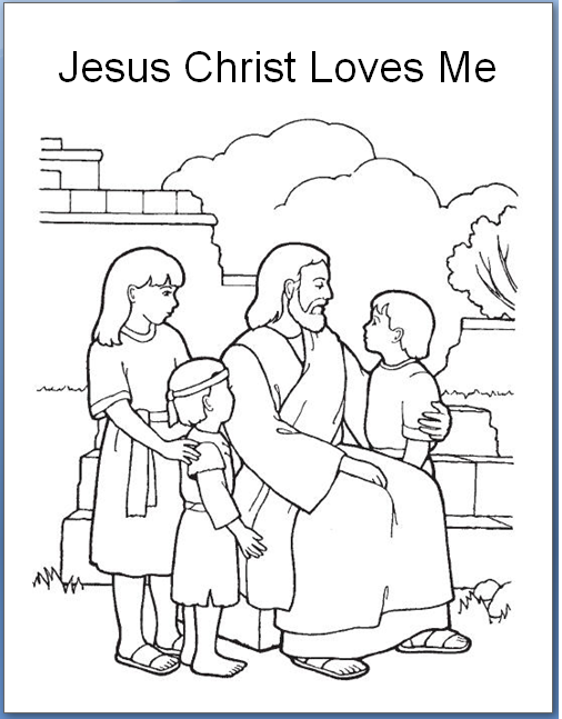 Jesus Loves The Children Coloring Pages 442 | Free Printable | 647x506