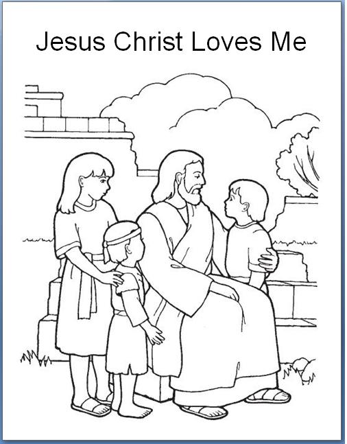 Jesus Christ Loves Each Of Us Png Image Agama Sekolah Minggu Warna