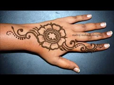 Mehndi Wrist Joint : How to do simple beautiful henna mehndi designs for hands matroj