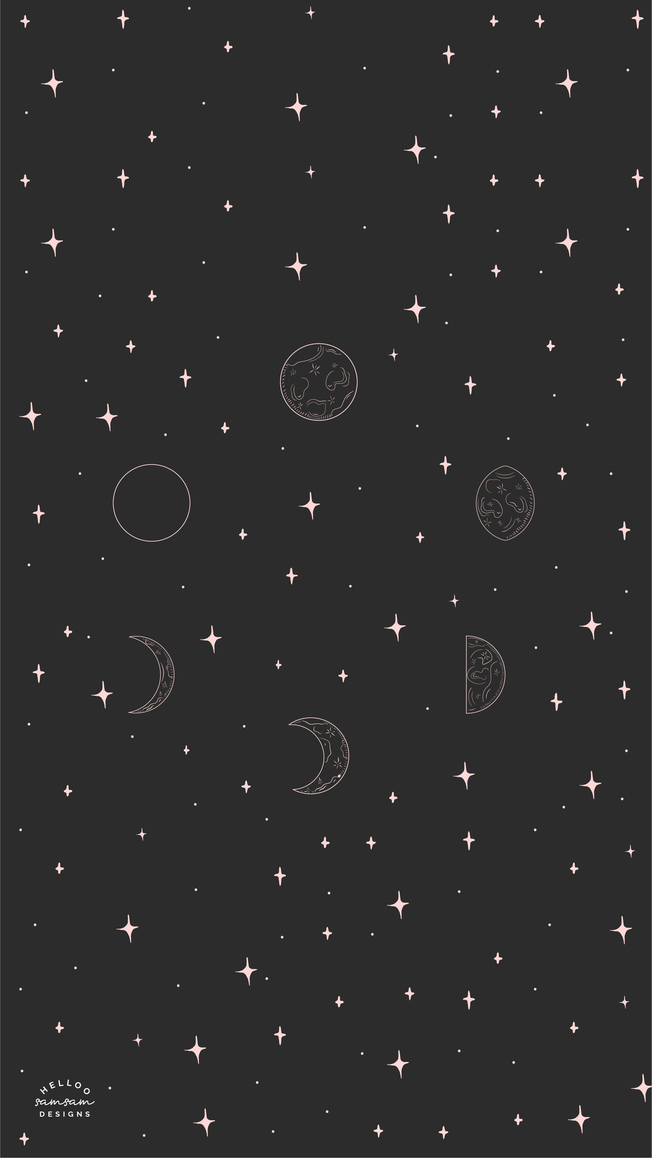 Free Moon Phases Tech Wallpaper Cute Wallpaper Backgrounds Witchy Wallpaper Dark Wallpaper