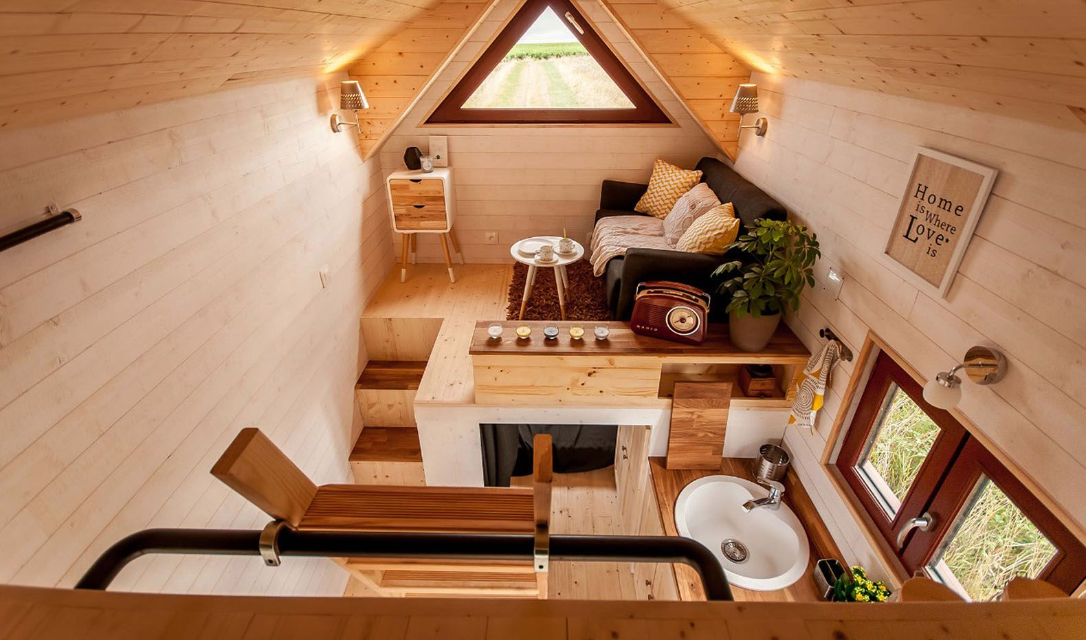 Fully-furnished tiny house from France easily fits a family of ...
