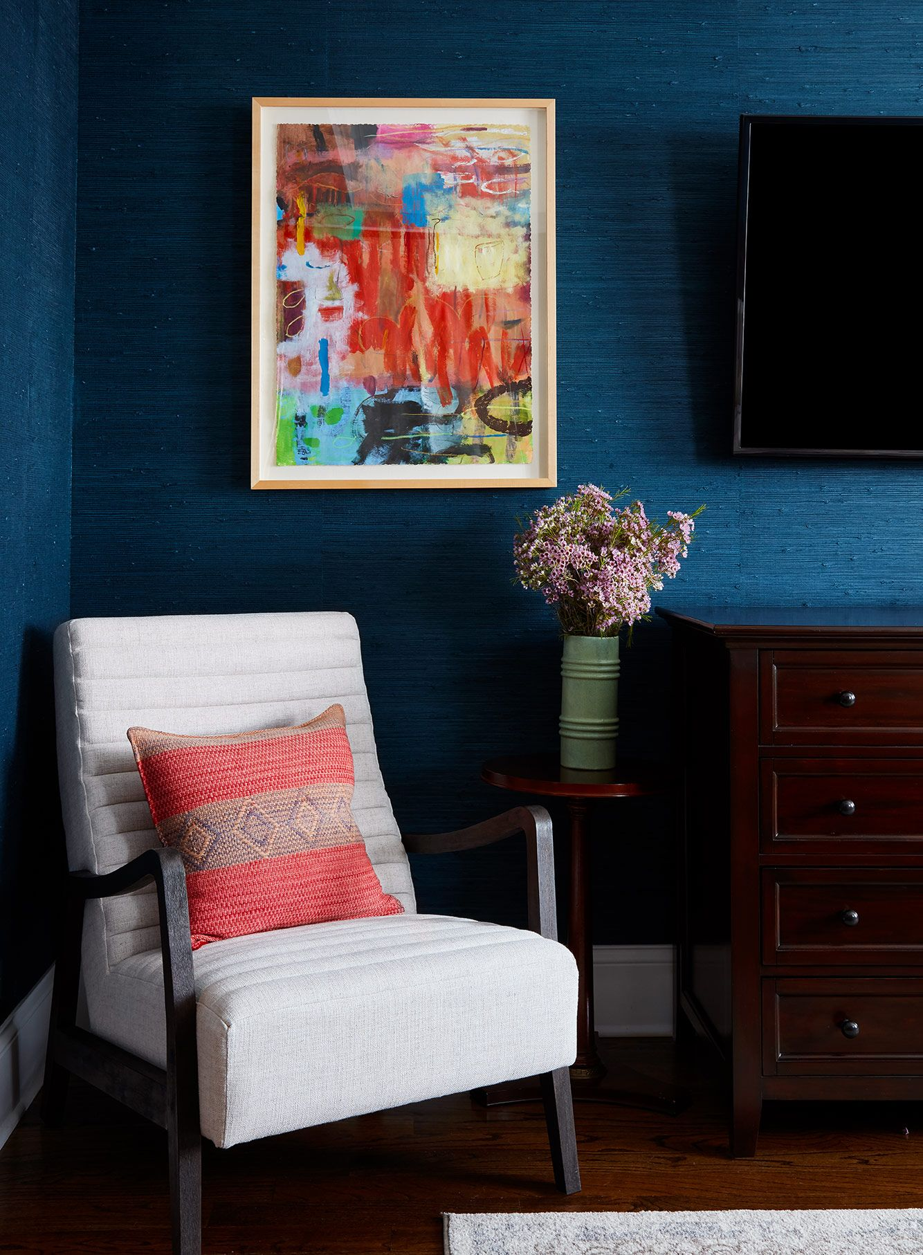 Textile, Lighting & Art Transformation Chicago interior