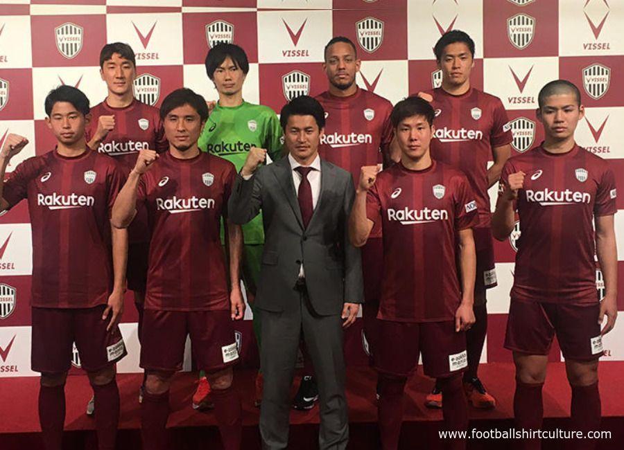 6b36fed29d2e  football  soccer  futbol  Vissel  jleague Vissel Kobe 2018 Asics Home Kit