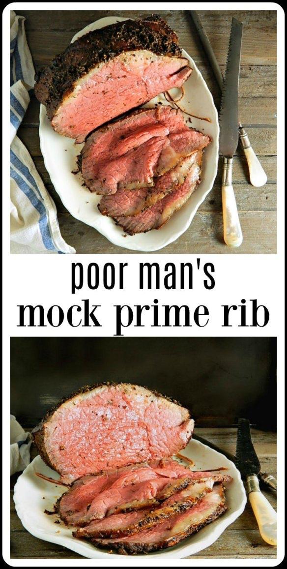Poor Man S Mock Prime Rib Will Take Any Old Grocery Store Roast Flavor It And Cook It Beautifully Sim Roast Beef Recipes Rib Roast Recipe Rump Roast Recipes