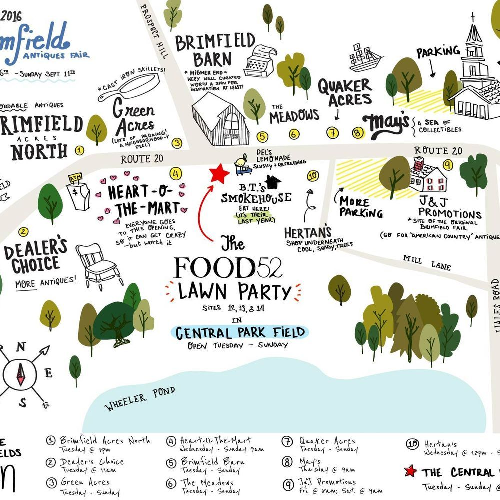 A Better Map Of The Brimfield Flea See You There Brimfield Brimfield Flea Market Brimfield Antique Show